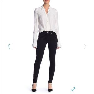 7 For All Mankind The Skinny jean in clean black